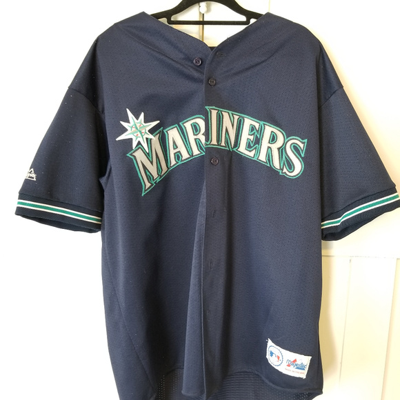quality design 515ef 37f10 90s Seattle Mariners Vintage Majestic Jersey